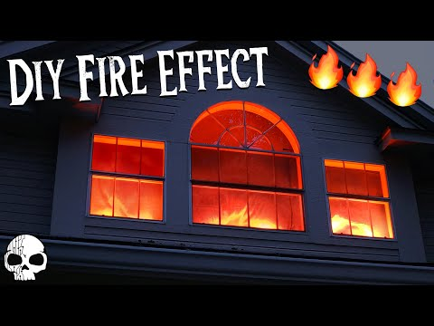DIY Halloween Props - Realistic Fake Fire Special Effects