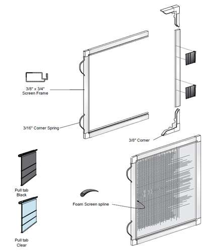 Order Replacement Window Screens For Vinyl Windows 5 16 X 3 4