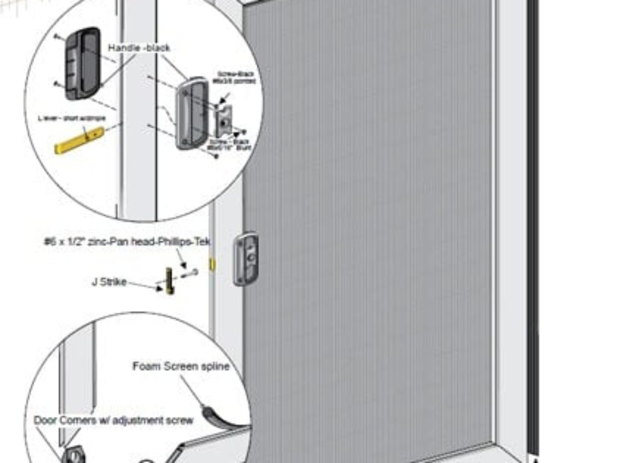 Sliding Screen Door Kit