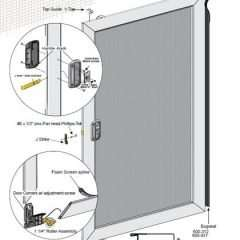 Unassembled Economy Sliding Screen Door kit