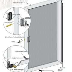Unassembled Economy Sliding Screen Door
