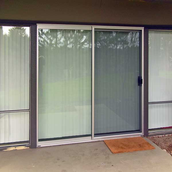 36x94 fully assembled sliding screen door custom made economy sliding screen door in bronze color patio screen door planetlyrics Gallery