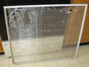old tired window screen