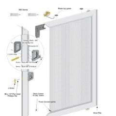 Aluminum Sliding Screen Door