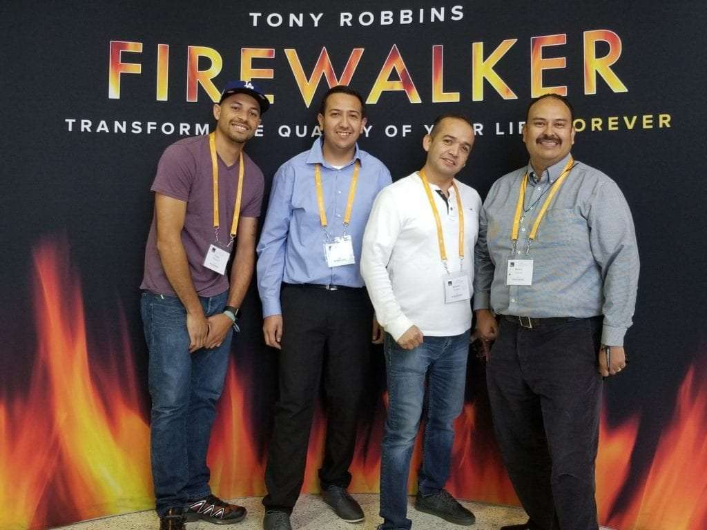 Firewalkers at UPW Unleash the Power from within at Tony Robbins event