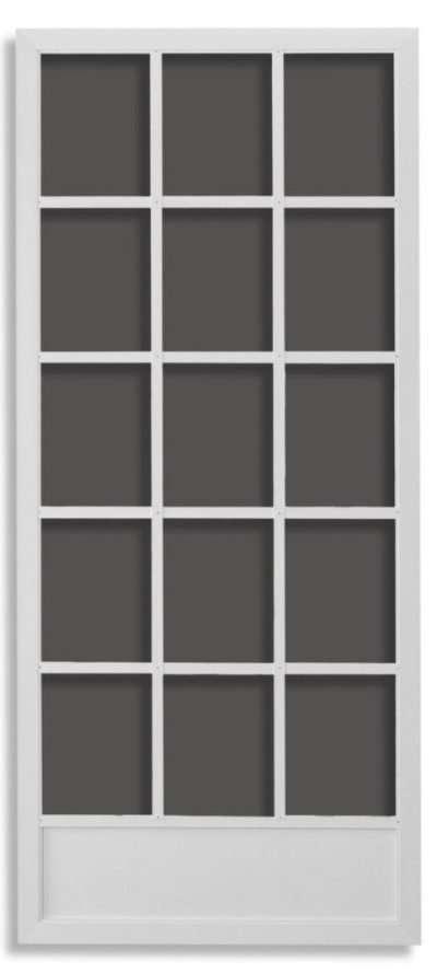 Hinged Swingin Screen Doors - Cape Cod White Active Window Products