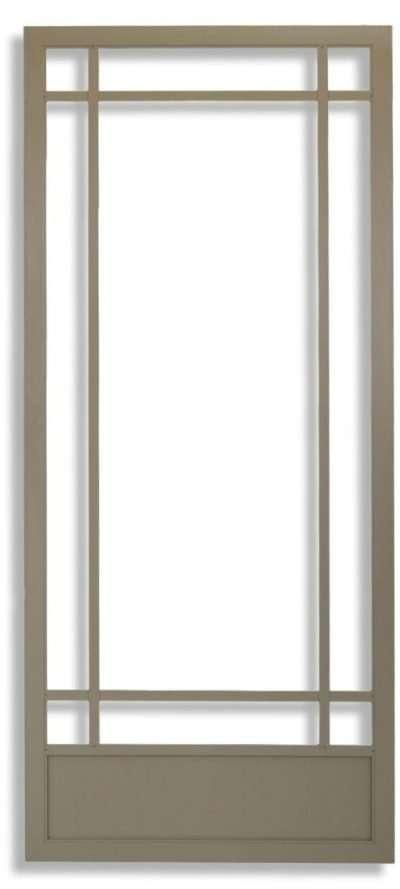 Prairie 9-Lite Swinging Screen Door Adobe