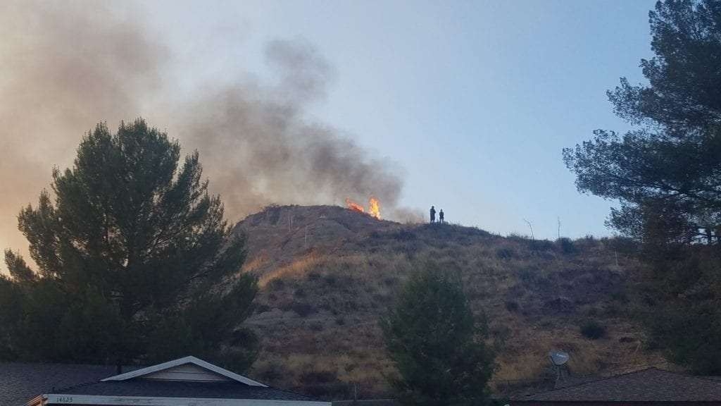 On top of hill near my house during tick fire