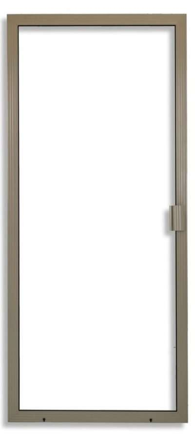 Super Duper Heavy Duty Sliding Screen Door in Adobe