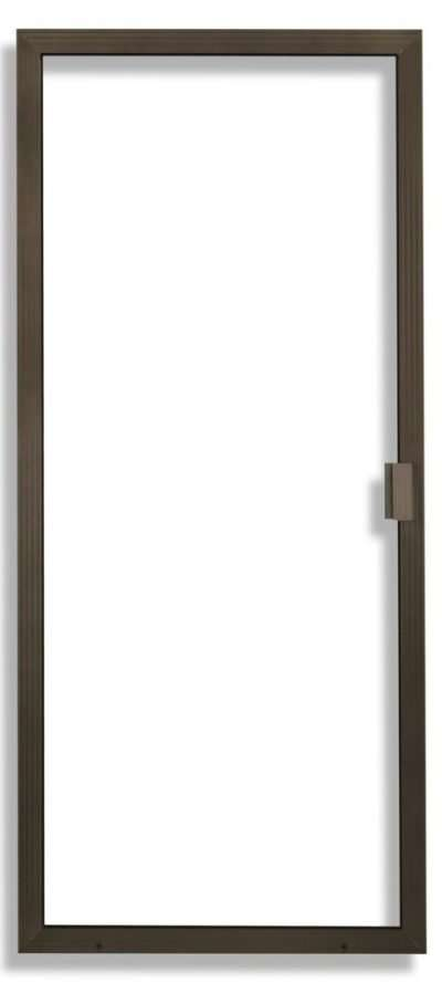 Super Duper Heavy Duty Sliding Screen Door in Bronze