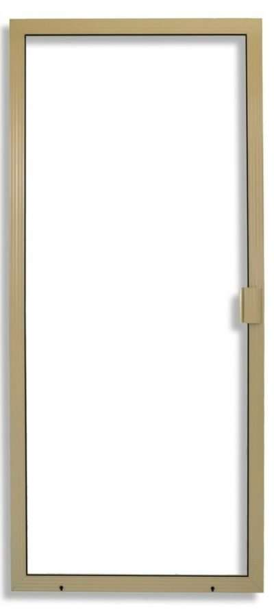 Super Duper Heavy Duty Sliding Screen Door in Tan