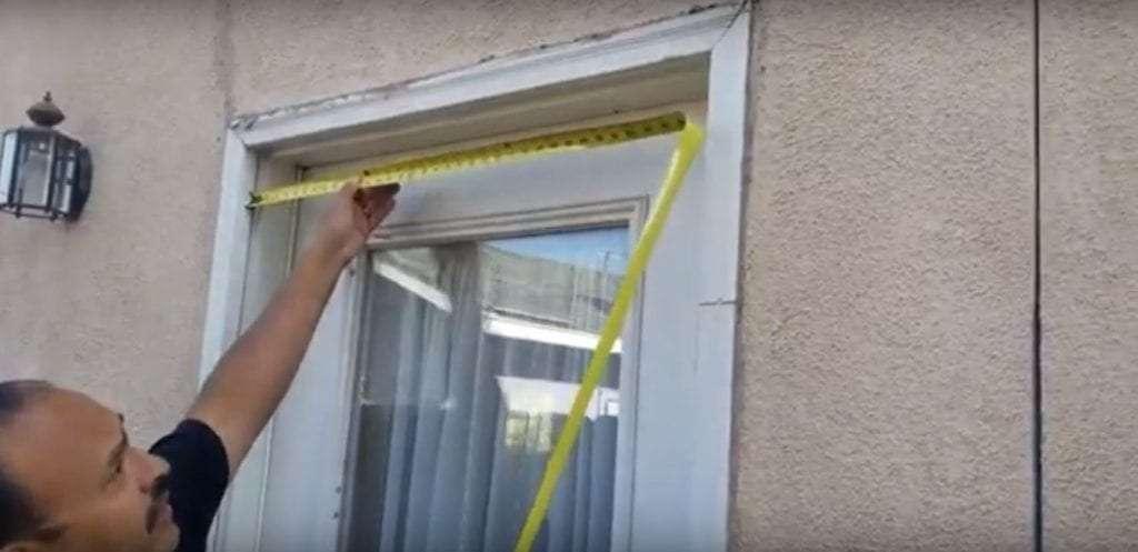 how to measure a door opening to install a swinging screen door