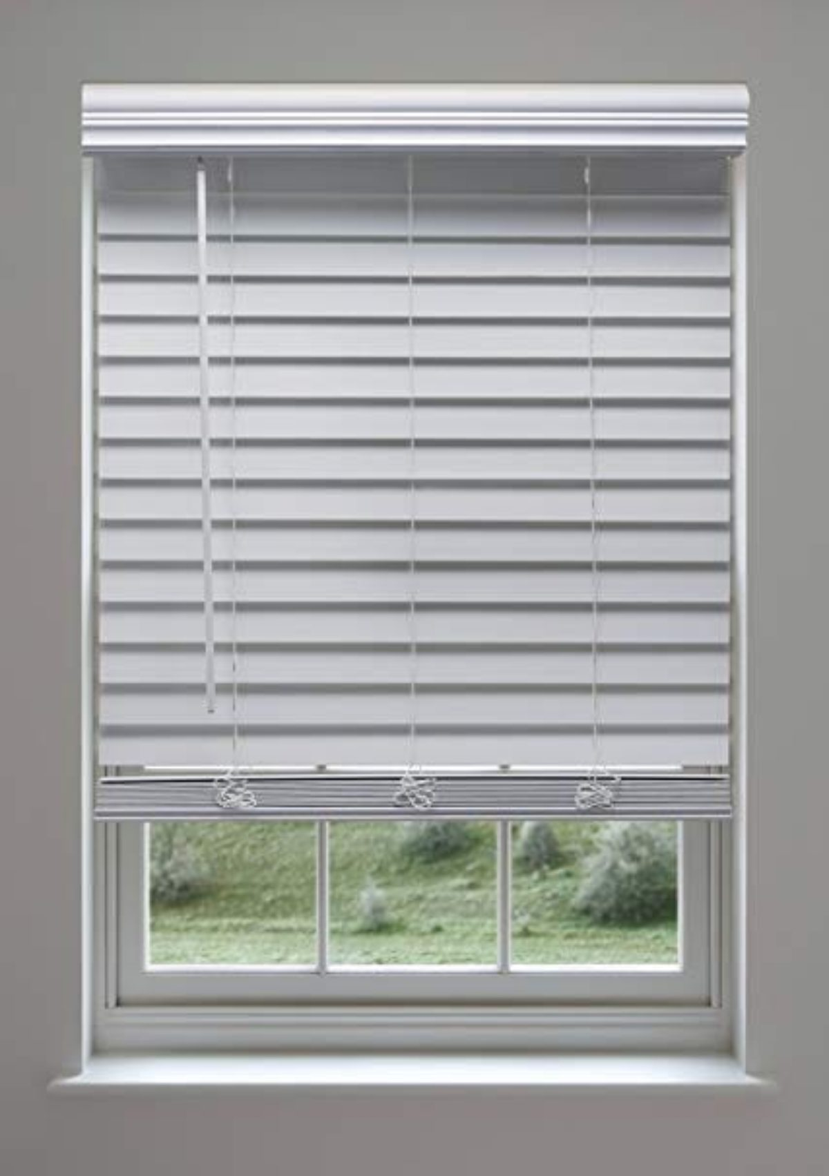 Cordless Faux Wood Blinds White Best Custom Screens Blinds