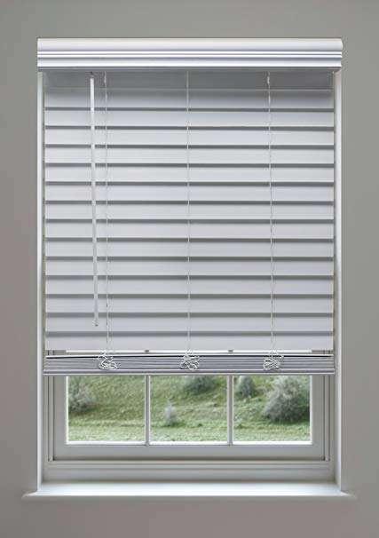 Cordless Faux Wood Blinds White Best Custom Screens