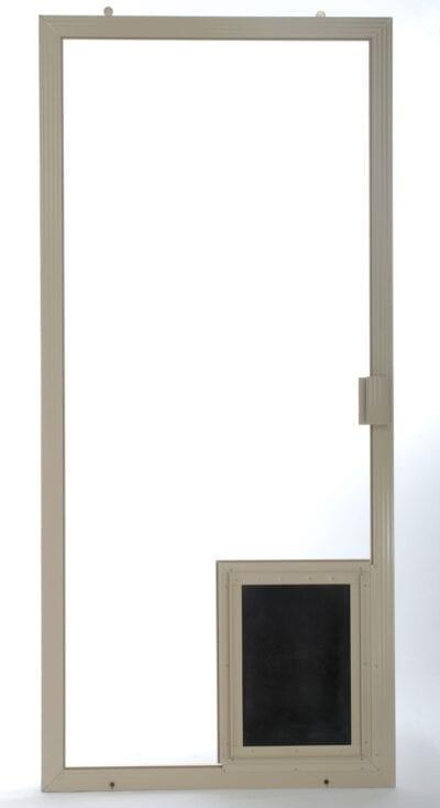 Doggy Door on Sliding Screen Door smaller